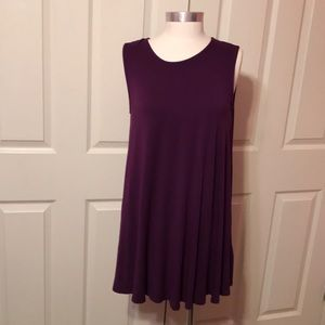 Mittoshop Purple Long Tunic Top Size S